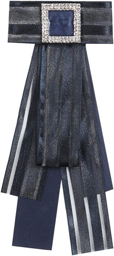 WKAIJCJ Pajarita Pajarita Cuello Broche Cuello Camisa Señora Ramillete Sección Larga Accesorios Ropa Moda Creativa Personalidad 10.0 * 24.0cm, Black-OneSize: Amazon.es: Ropa y accesorios