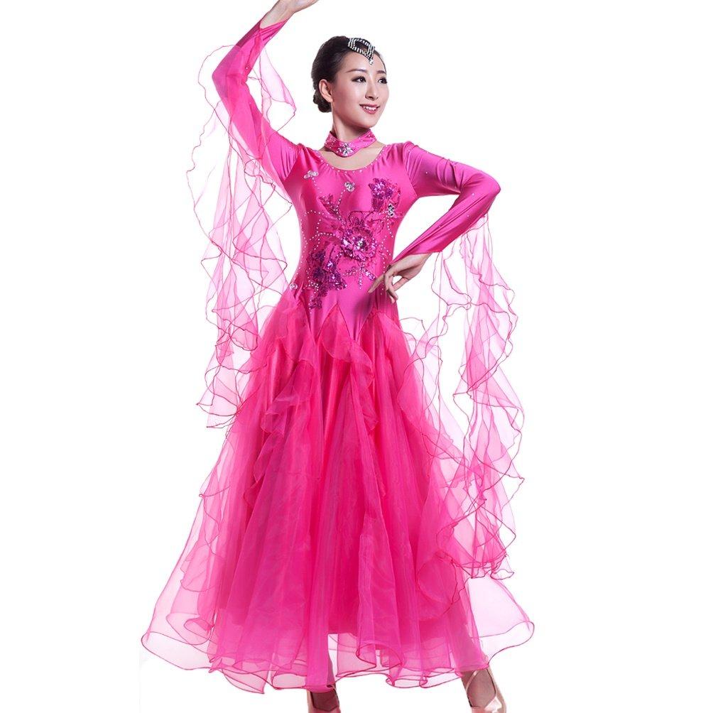 Ballsaal Tanzkleider Tanzkleider Tanzkleider Für Frauen Lange Ärmel Expansion Performance Rock Tango Walzer Modernes Tanzkleid Nationaler Standard Tanzkleidung B07M5TNLJK Bekleidung Ausgezeichnete Leistung d80a21