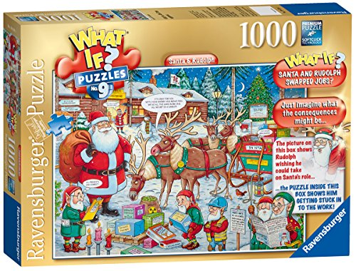 Ravensburger What If? Santa & Rudolph Jigsaw Puzzle Family Entertainment Set