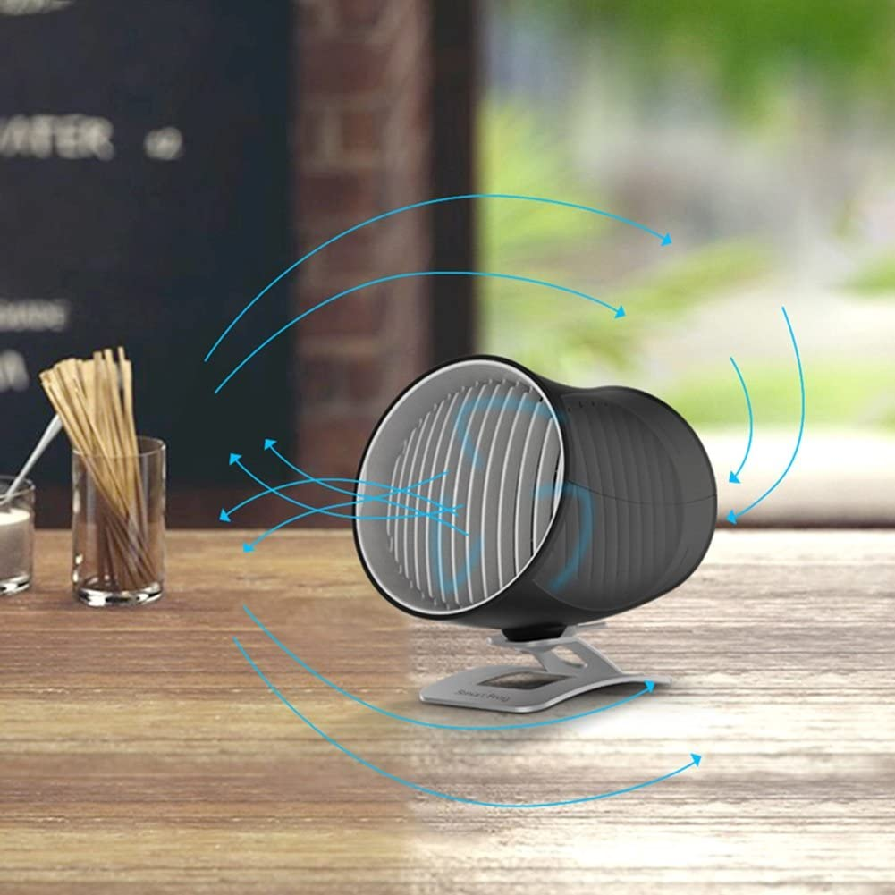 DNXL Mini Fan Creative Desktop Mute Portable Car Airflow USB Powered Fan Applicable to Student Dormitory//Office Color : Black