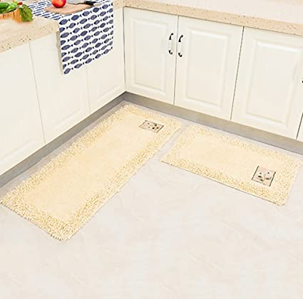 Amazon.com: CarPet Long Cotton Kitchen Rugs Non-slip ...