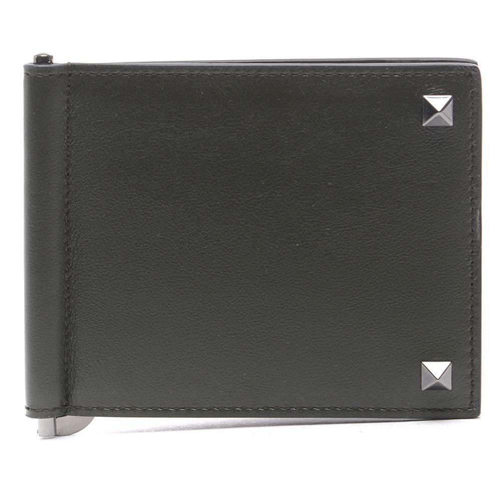 [ヴァレンティノ] [VALENTINO] メンズ ロックスタッズマネークリップ 財布 カーキ [並行輸入品] B07GNR1N38  One Size