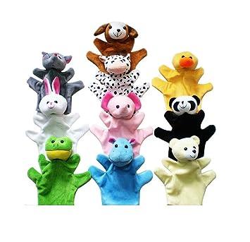 Leegoal - Peluches para los dedos, diseño de animales de zoo