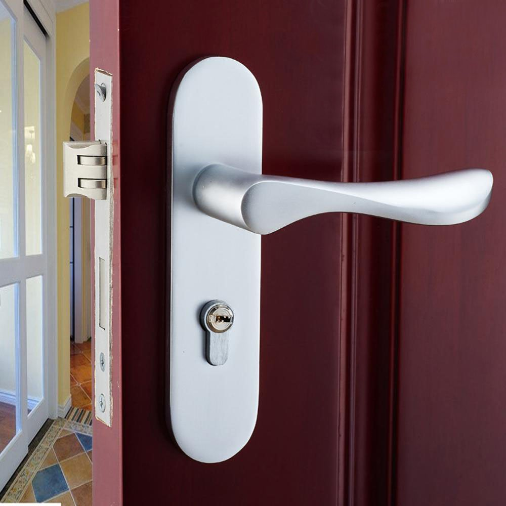 Daeou Aluminum alloy door lock space aluminum handle lock bathroom lock by Daeou (Image #2)