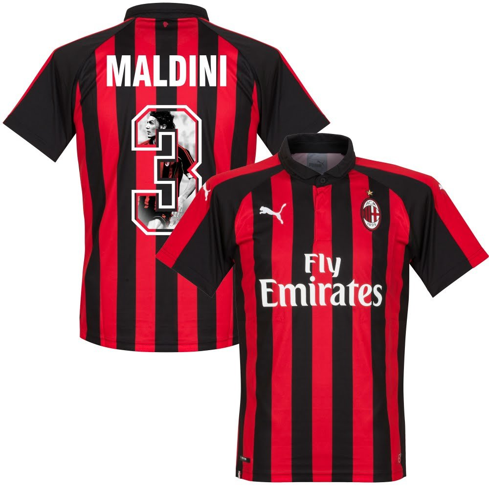 AC Mailand Home Trikot 2018 2019 + Maldini 3 (Gallery Style)