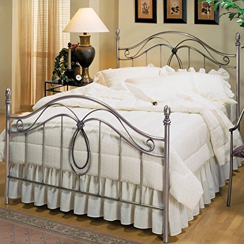 Hillsdale Furniture 167BKR Milano Bed Set with with Rails, King, Antique Pewter