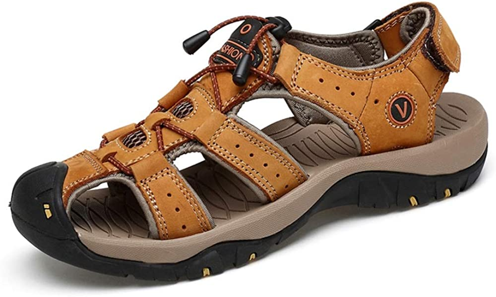 Muyin Sandals for Men Outdoor/  Water Shoes Lace Up Style