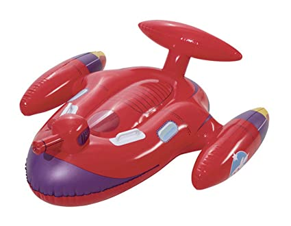 Sumpll Fila Flotante Inflable Forma De Nave Espacial Roja ...