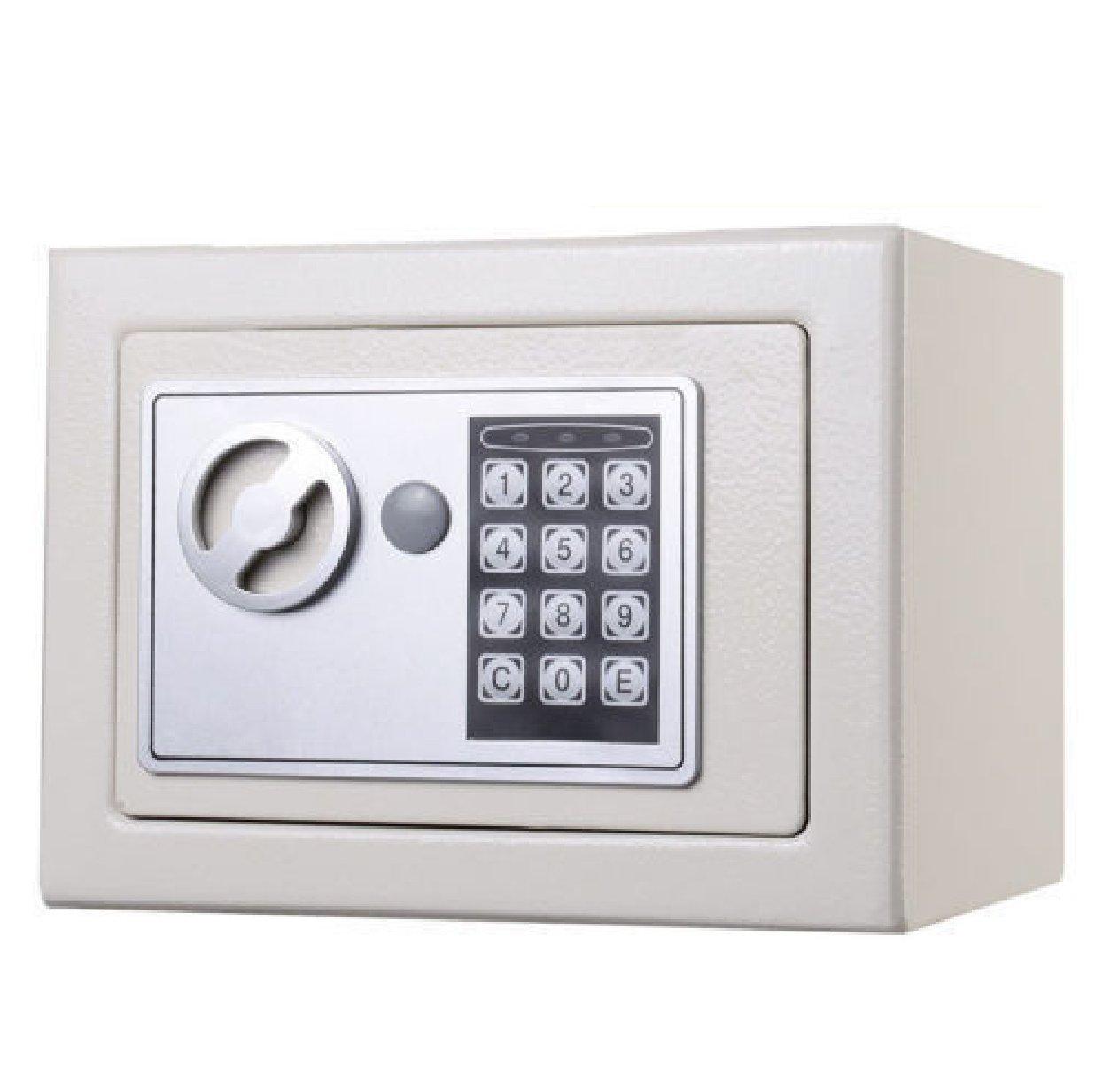Durable Keypad Lock Home Hotel : NEW Small White Digital Electronic Safe Box Keypad Lock Home Office Hotel Gun : Safe Box Small White Electronic