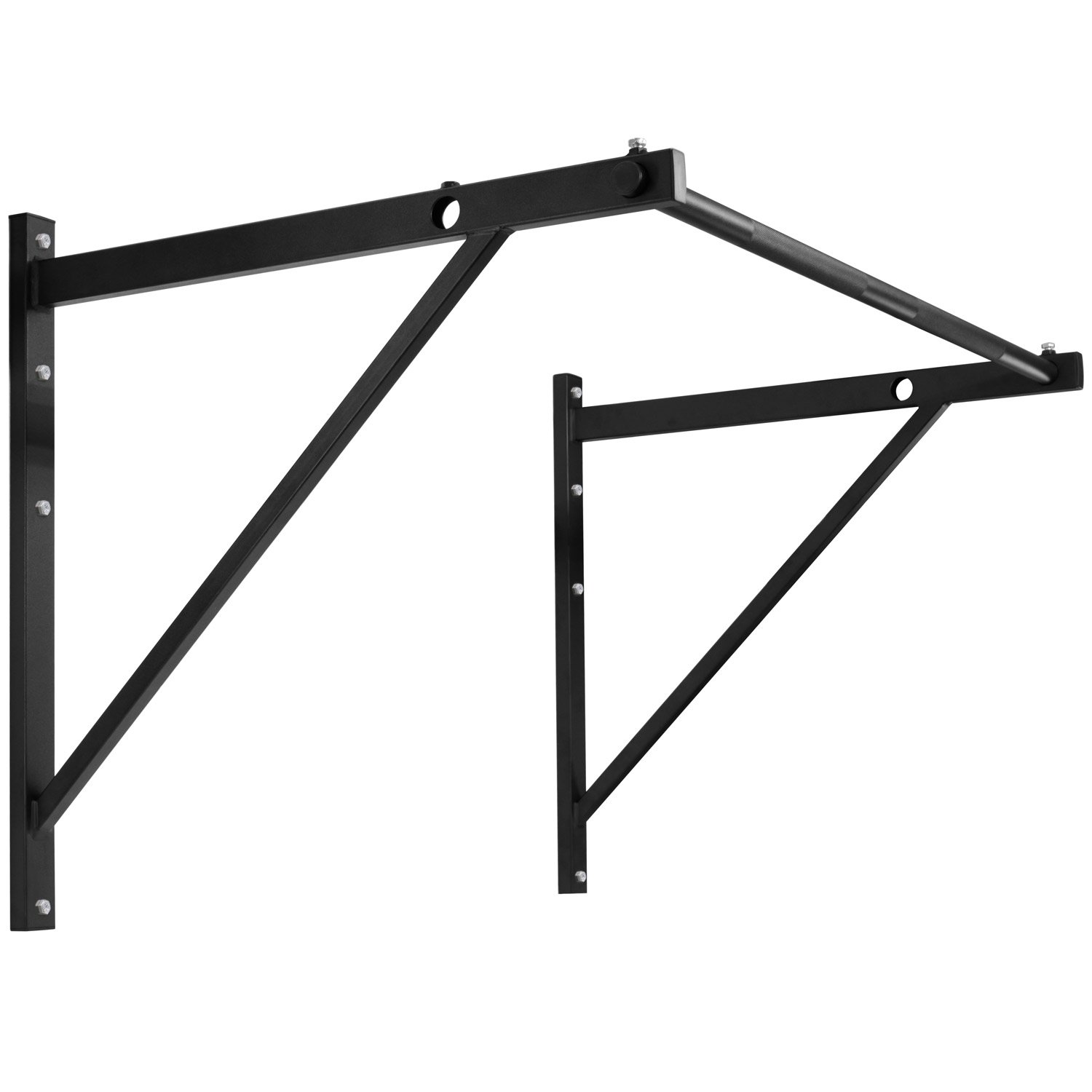 Yes4All Wall Mounted Pull Up Bar for Crossfit Training - Chin Up Bar/Pull Up Bar Wall Mount - Support up to 500 lbs (Black)