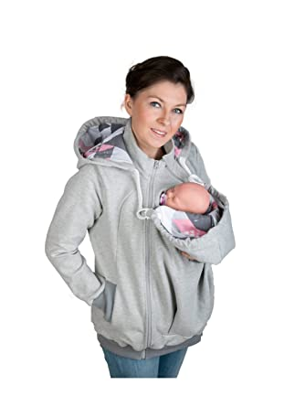 f235c9736cc5 3in1 Maternity baby back carrying hoodie sweatshirt babywearing jacket (S M  - US6