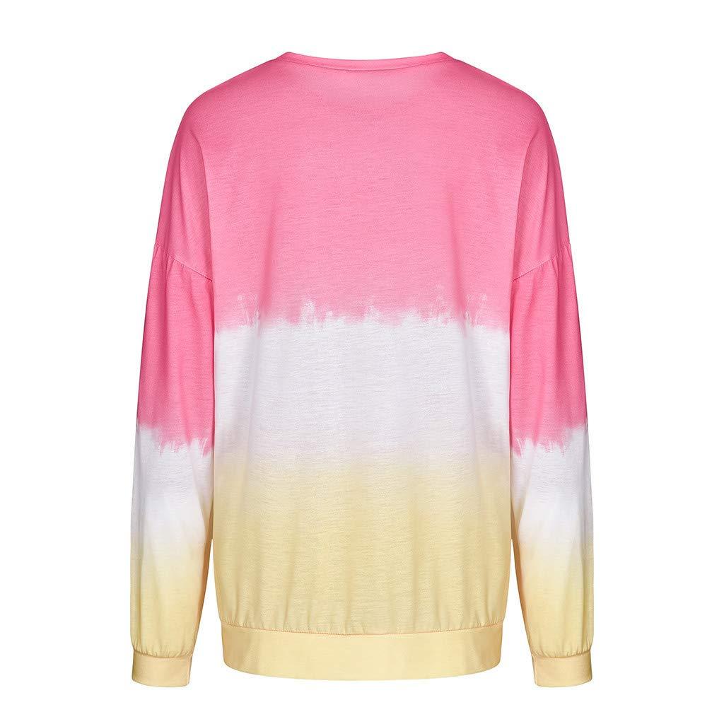 Womens Zip Color Block Long Sleeve Tunic Sweatshirt Tops Patchwork Pocket S-2XL ZOMUSAR Women Blouse