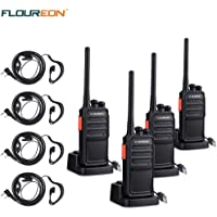 4-Pack Floureon A5 Rechargeable Walkie Talkies Two Way Radios