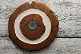 Round clay heat resistant coaster