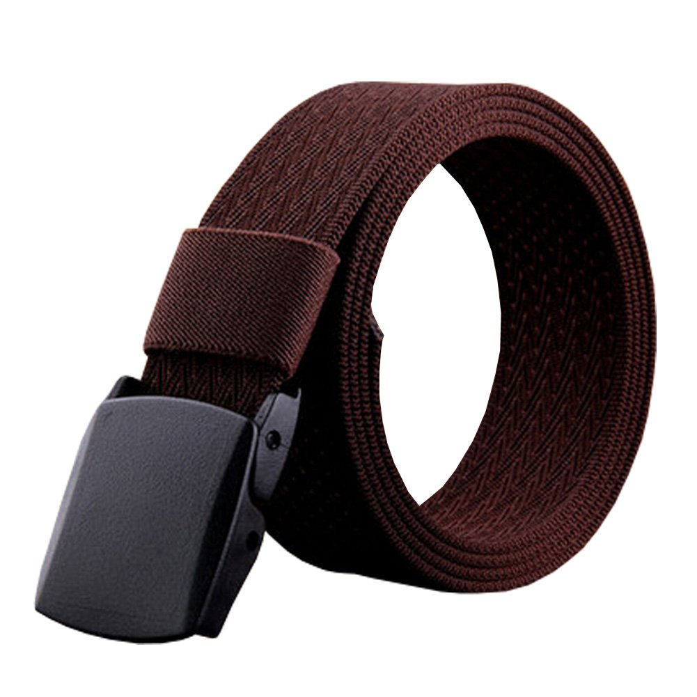 Casual Knitting Trouser Belt Mens//Boys Canvas Belts Bales Catch Wine Red