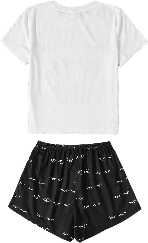 DIDK Womens Flamingo Print Cami and Plaid Shorts Pajama Set