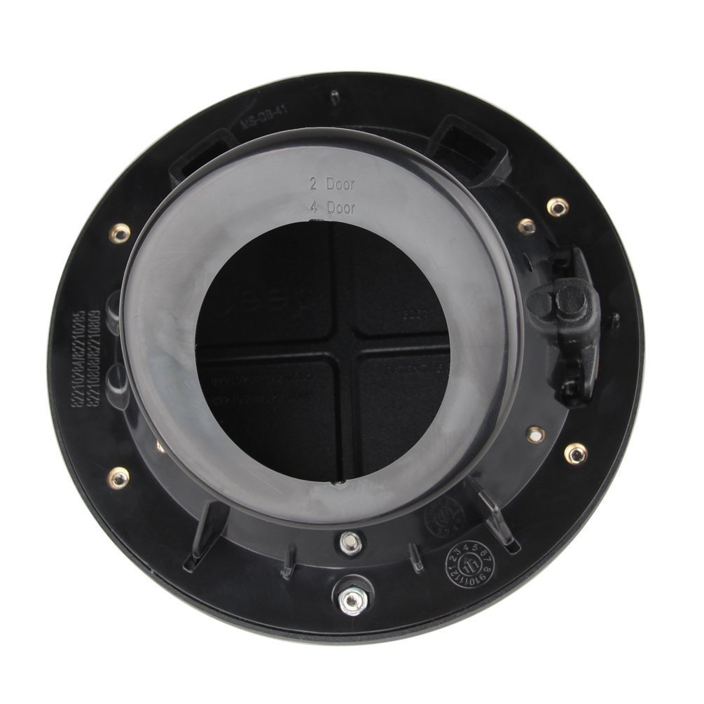 Gas Cap Cover for Jeep Wrangler 2007-2017 BLACK WITH LOGO