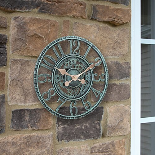 <span style=''>[해외]Lilyshome 실내 또는 실외 벽 시계 Steampunk 기어 장부 디자인, 1..</span>