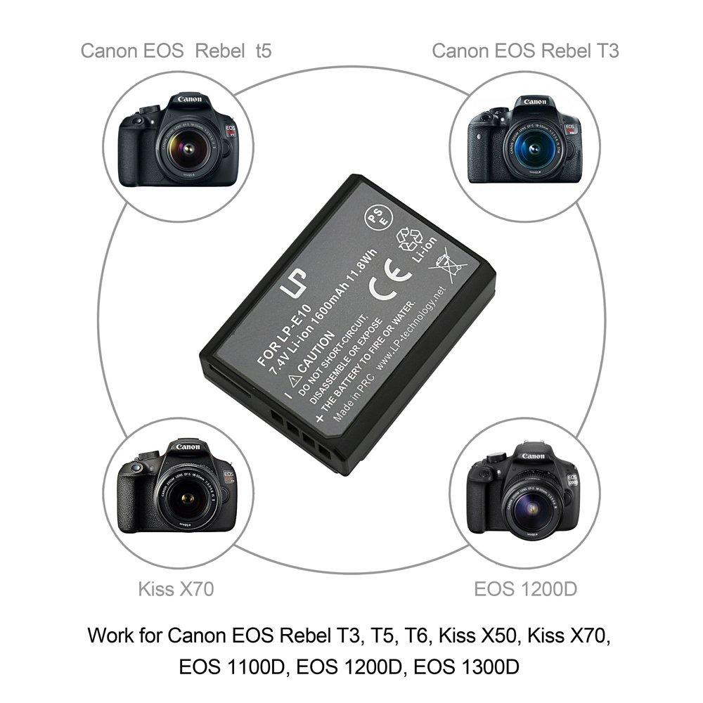 Lp E10 Battery For Eos Rebel T3 T5 T6 1100d 1200d Batre Canon E8 Untuk Tipe Kamera 550d 600d 700d 1300d Kiss X50 X70 Cameras Rechargeable Li Ion Compatible With Lc