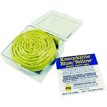 """Kneadatite azul/amarillo de masilla epoxi cinta 36 """"verde Stuff"""