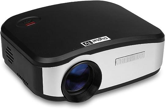 Cheerlux C6 - Proyector LED Portátil (800 x 400, 1080P, Altavoz ...