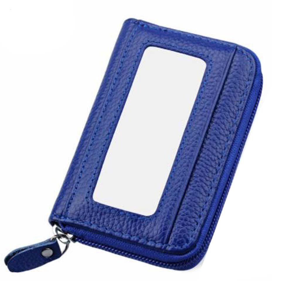 Q4Travel Genuine Leather Credit Card Holder. RFID Blocking Leather Credit Card Wallet.