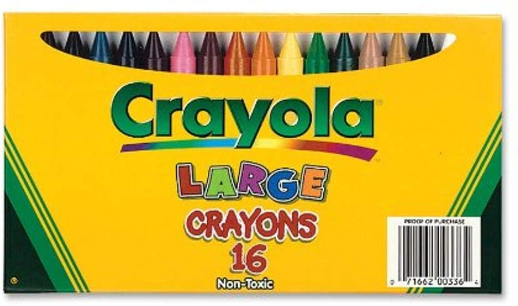 Crayola Large Crayons, Classic Colors, 16 Count