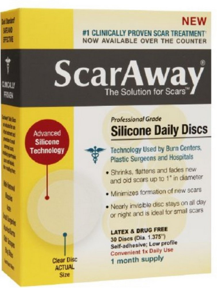 ScarAway Professional Grade Silicone Daily Discs 30 ea (Pack of 8)
