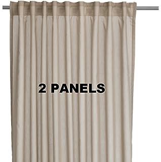 Amazon.com: Ikea Thin Curtains, 1 Pair, White: Home & Kitchen