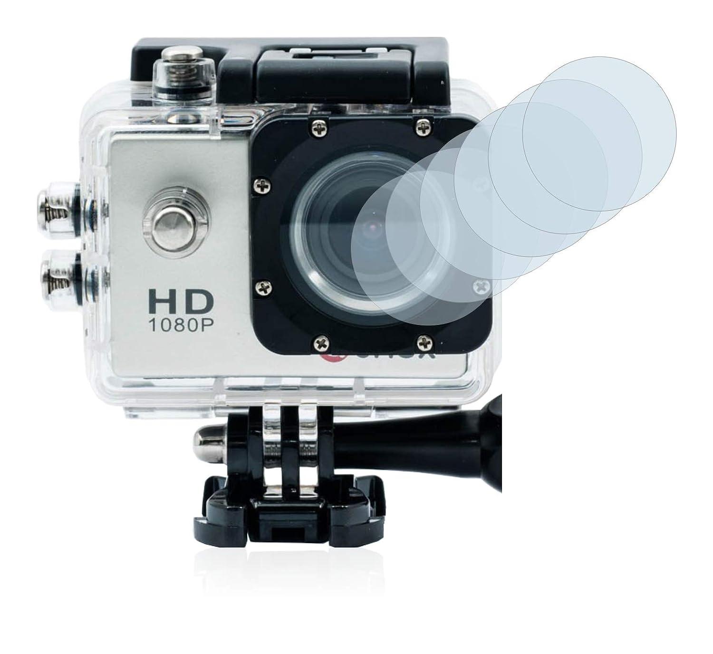 Savvies Protector de Pantalla Compatible con Qumox SJ4000 Sports HD DV Action CAM Lente (Carcasa) [6 Unidades] - Transparente