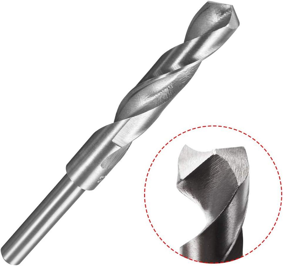 "1//2/"" Straight Shank 15.5mm Drill Bit HSS 4241 Silver"