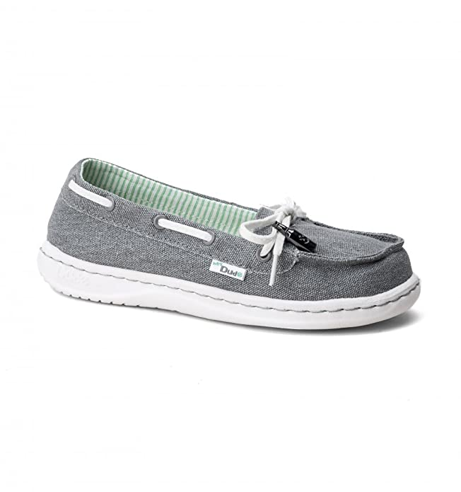 Dude Shoes Women's Moka Classic Grey Canvas Deck Shoe UK3 / EU36 sS0fjPv