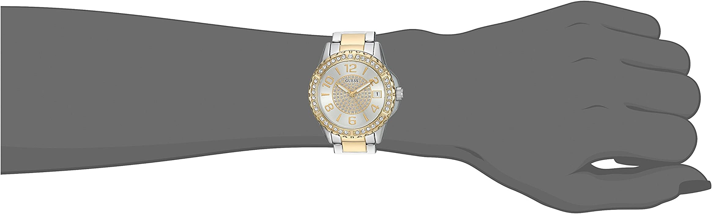 Womens Stainless Steel Crystal Casual Watch