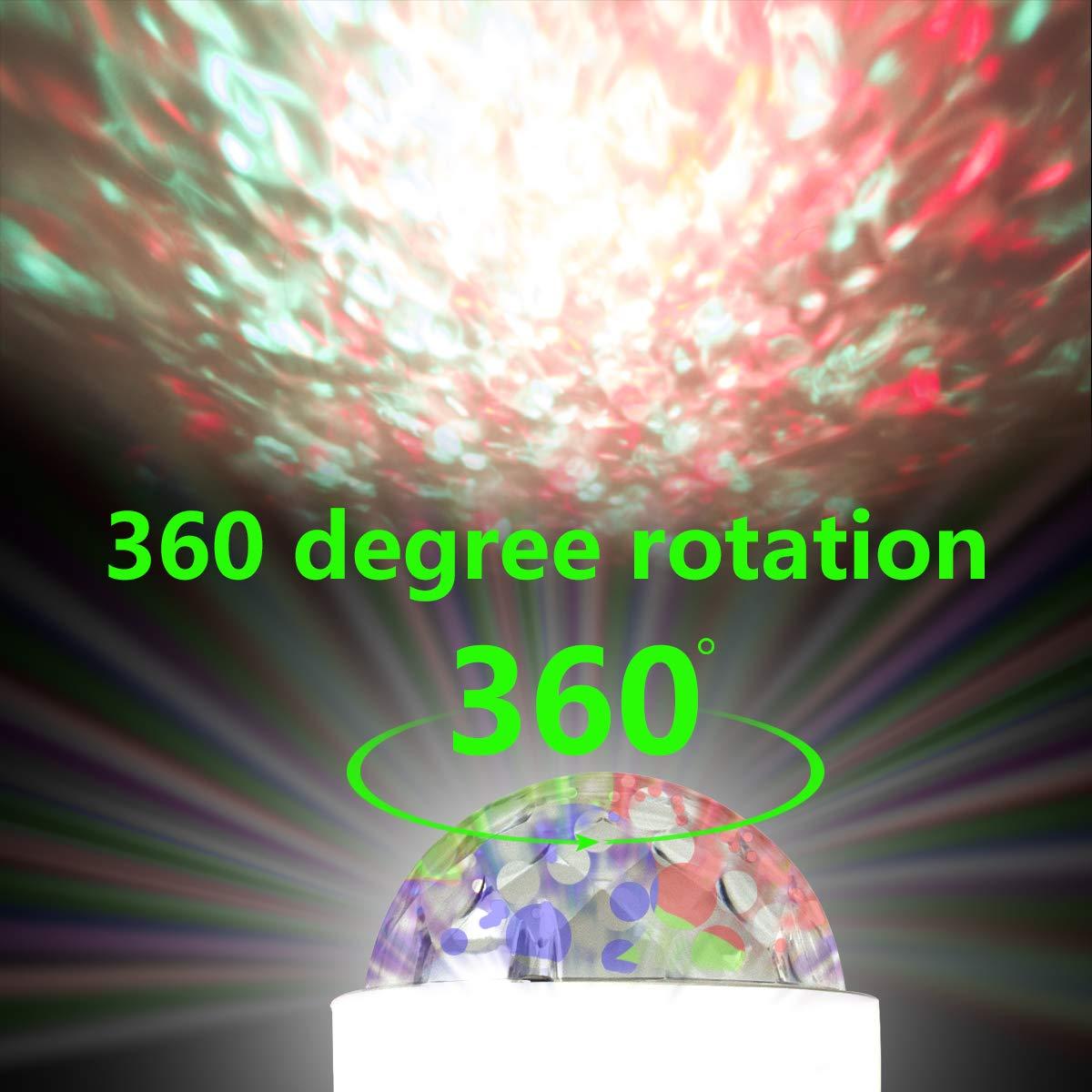 Discokugel E27 RGBYW Fernbedienung LED Partybeleuchtung Lichteffekte B/ühnenlampen Gl/ühbirnen Partylicht Lampe Fernsteuerung f/ür Geburtstagsparty Hochzeitsfest Weihnachten Halloween