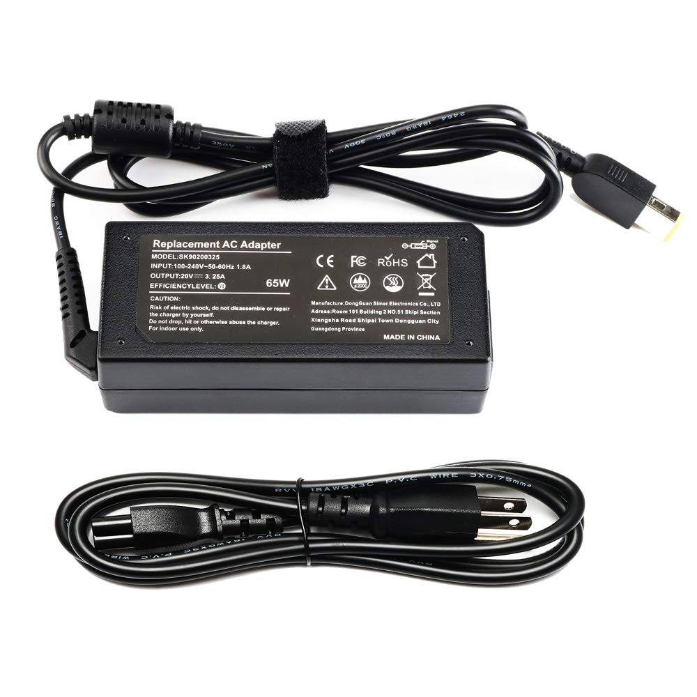 65W 20V 3.25A AC Adapter Laptop Charger for Lenovo Ideapad G50-30 G50-45 G50-70 G50-80 G70-35 G70-70 G70-80 Z40-70 Z50-70 Z50-75 Z70-80,Fit ADLX65NDT3A ADLX65NDC3 ADLX65SLC2A 0C19868 Power Cord