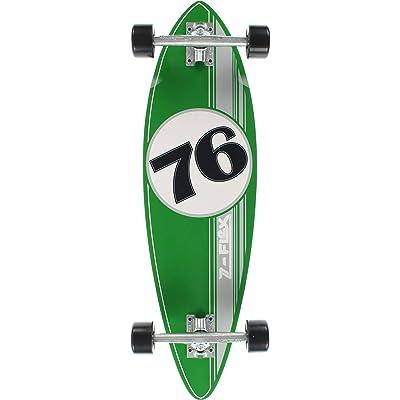 Z-Flex Cruiser Mini Pintail 76 Skateboard Complete Green/Silver : Sports & Outdoors