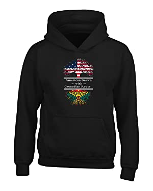 American Grown With Grenadian Roots Grenada Great Gifts - Adult Hoodie