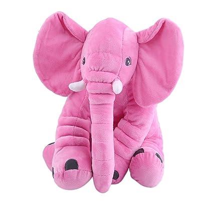Cojín de peluche para dormir Juguete de almohada suave para dormir Forma de elefante lindo Muñeca