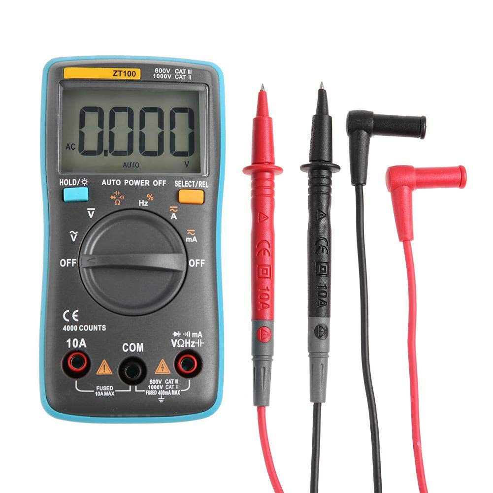ZT102 Port/átil Mini Auto Pantalla LCD digital Mult/ímetro de capacitancia de prueba Nitrip ZT100 ZT101 ZT100