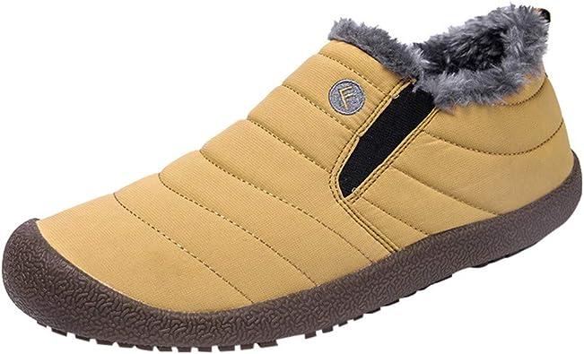 Abolido escalar exilio  POLP Botas de Nieve Mujer Invierno Impermeable Además de Terciopelo  Mantener Caliente Botas Mujer Planas Zapatos de algodón Antideslizante  Calzado Señora 2019: Amazon.es: Zapatos y complementos