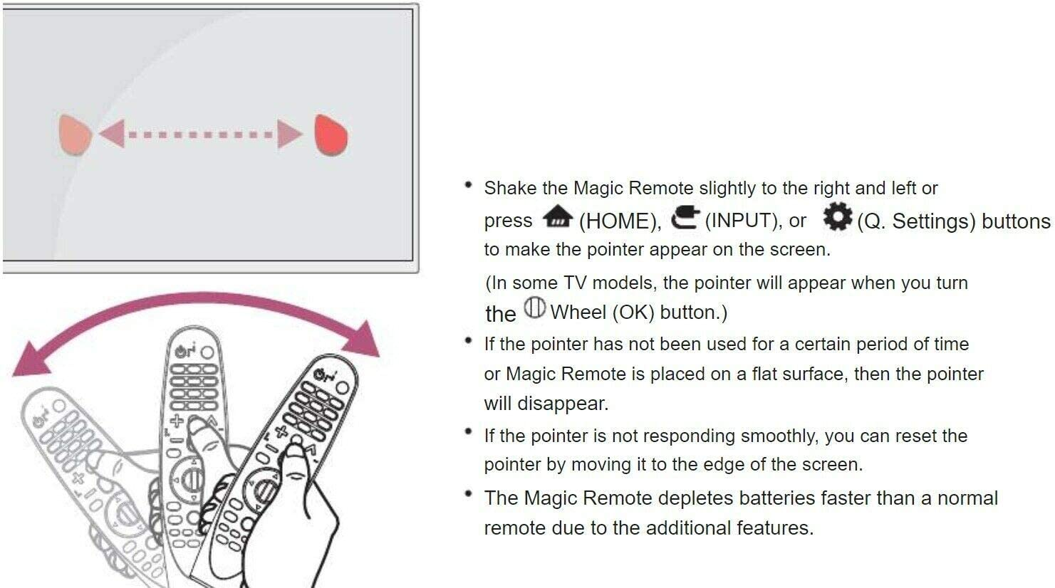 Replacement TV Remote Control Controller for LG Electronics OLED55B8PUA OLED65B8PUA 4K Ultra HD Smart OLED TV 2018 Model