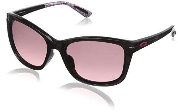 oakley womens drop in sunglasses  oakley women's drop in oo9232 12 cateye sunglasses, polished black,