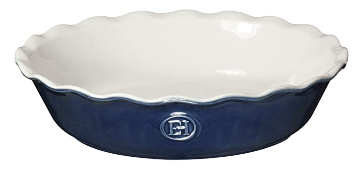 """Emile Henry Made In France HR Modern Classics Pie Dish, 9"""", Blue"""