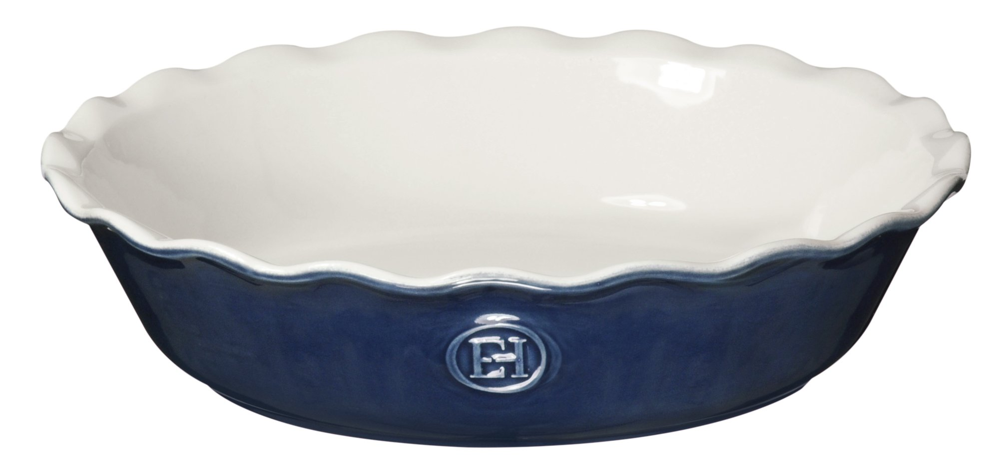Emile Henry Made In France HR Modern Classics Pie Dish, 9'', Blue