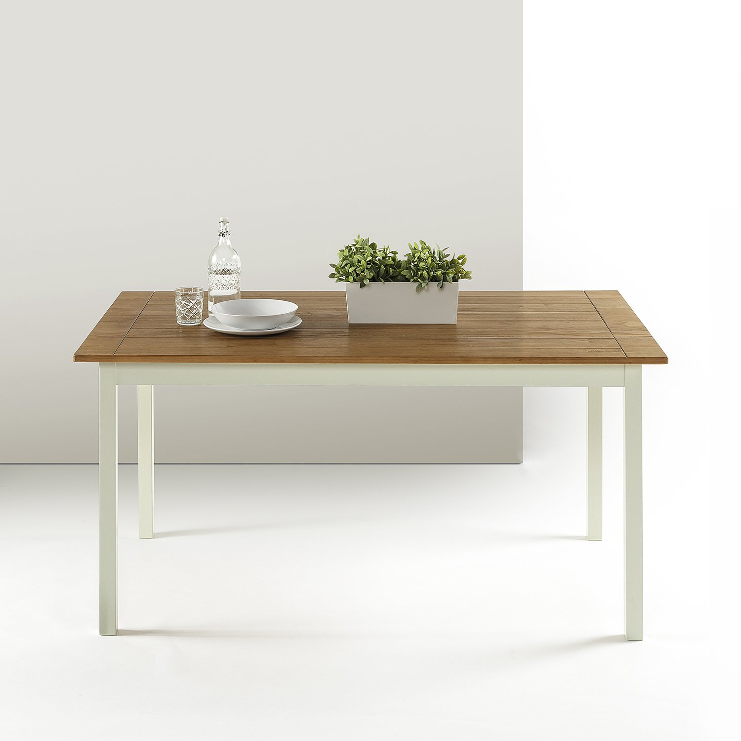 Zinus Becky Farmhouse Large Wood Dining Table by Zinus