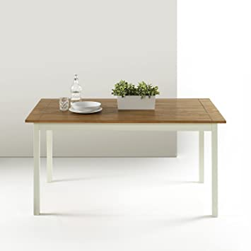Amazon.com: zinus Farmhouse grande madera mesa de comedor ...