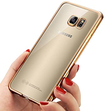 quality design 80d88 0c163 Samsung Galaxy S7 Case, Mture [Drop Protection] Crystal Clear [Metal  Electroplating Technology] Ultra-Thin Soft Gel TPU Bumper Case for Samsung  Galaxy ...