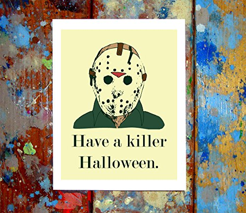 (2 Pack) Jason & Michael Myers Halloween Greeting Cards (4.25x5.5 (Halloween Cards To Print Out)
