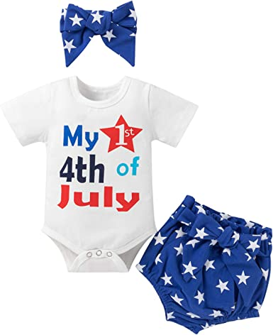 Baby Bodysuit Memorial Day Outfit Fourth of July Outfit America Independence Day Outfit