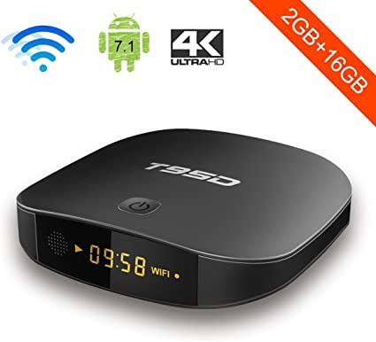 Android TV Box, YAGALA T95D Android 7.1 RK3229 Quad Core 2GB RAM 16GB ROM con 4K Full HD WiFi Bluetooth HDMI 2.0 Ethernet: Amazon.es: Electrónica